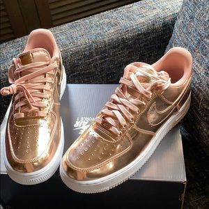 Rose Gold Nike Air Force 1s BRAND NEW